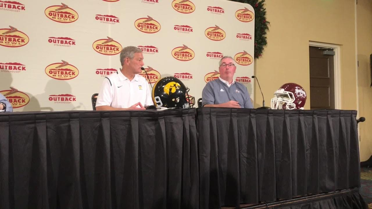 Mississippi State coach Joe Moorhead has two NFL prospects who decided to play in the Outback Bowl vs. Iowa. Hear what he thought of their decision: