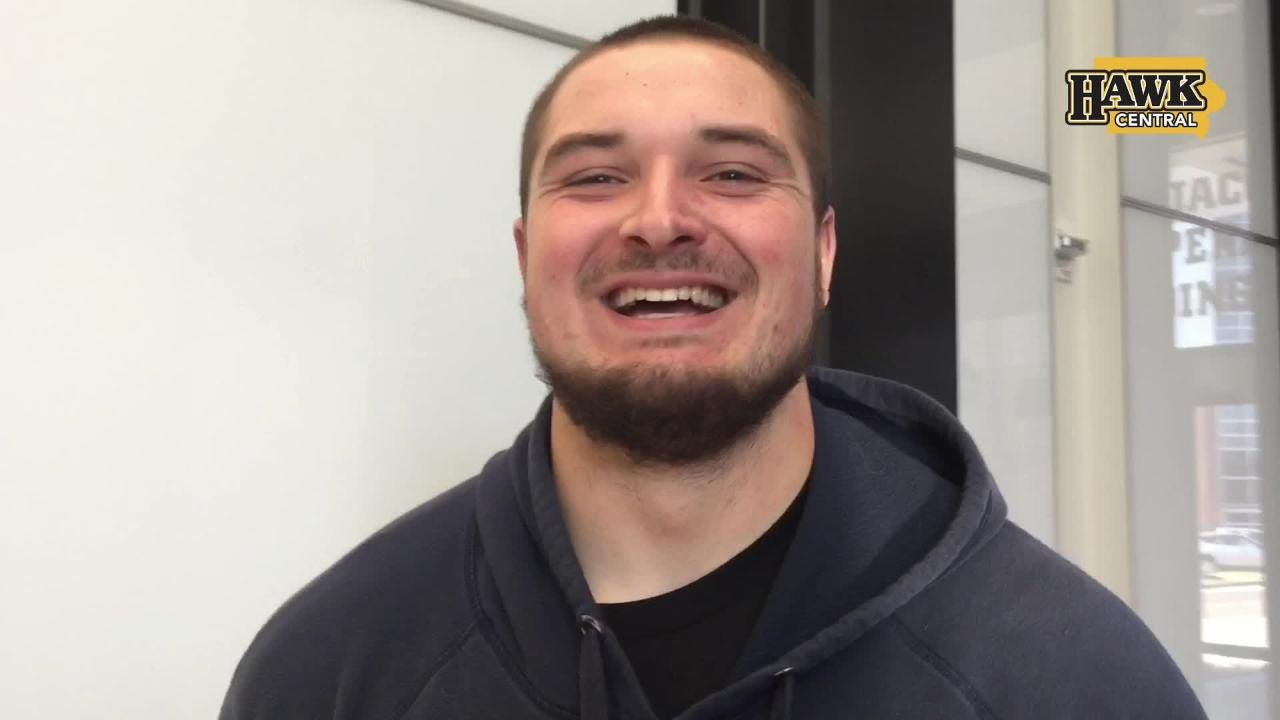 Iowa left guard Ross Reynolds is probably the team's meanest blocker up front. The development didn't come easy.