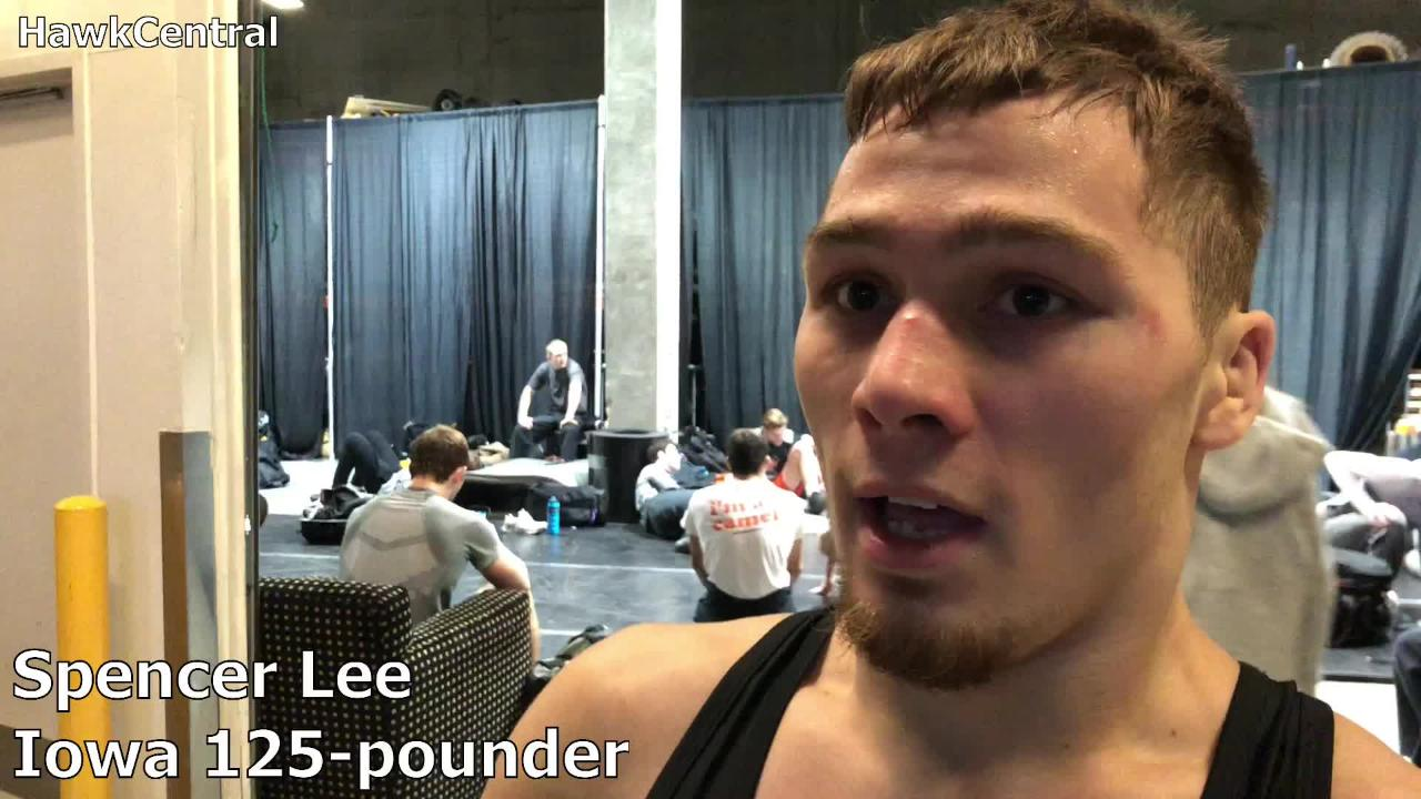 Iowa's Spencer Lee reached the semifinals of the Midlands Championships on Saturday in Hoffman Estates, Illinois.