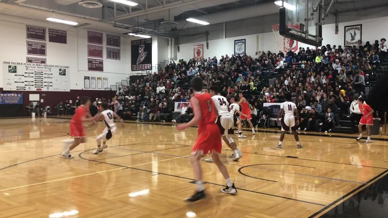 Greater Latrobe was a 71-50 winner over Elmira in the National Division semifinals at the Josh Palmer Elmira Holiday Inn Classic on Dec. 29, 2018.