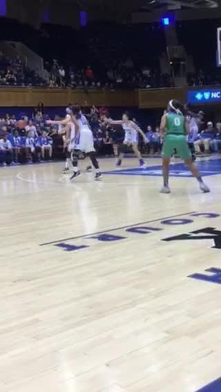 The FGCU women made a 3-pointer here, but struggled from behind the arc, making just 7 of 37 in a 57-41 loss at Duke on Sunday, Dec. 30, 2018.