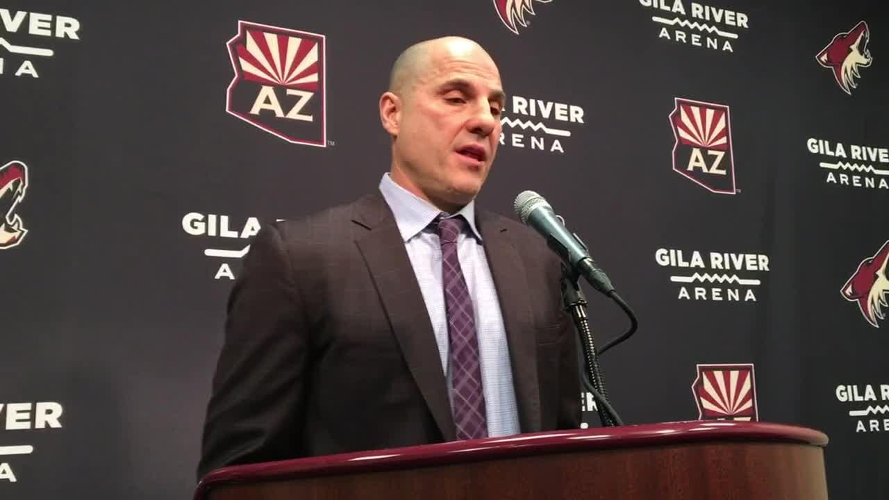 Coyotes head coach Rick Tocchet sounds off after his team's 5-1 loss to the Golden Knights on Sunday.