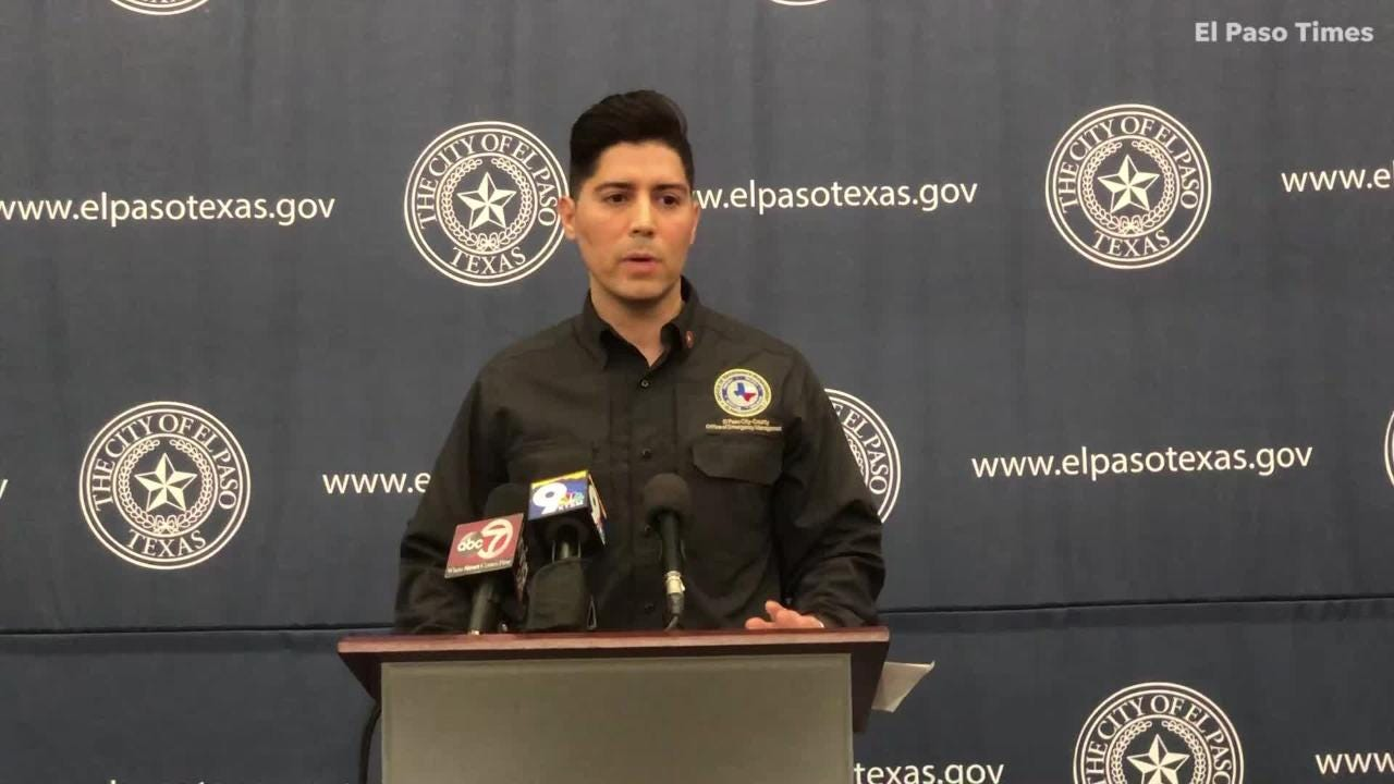 El Paso Fire Department Deputy Chief Jorge Rodriguez talks about the city's response to an ICE release of migrants Christmas week in Downtown.