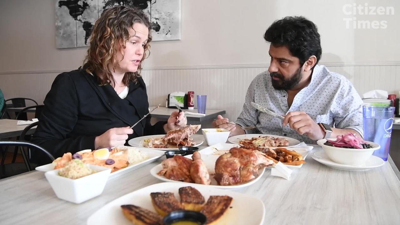 Mackensy Lunsford and Meherwan Irani see what Conosur has to offer in Mills River.