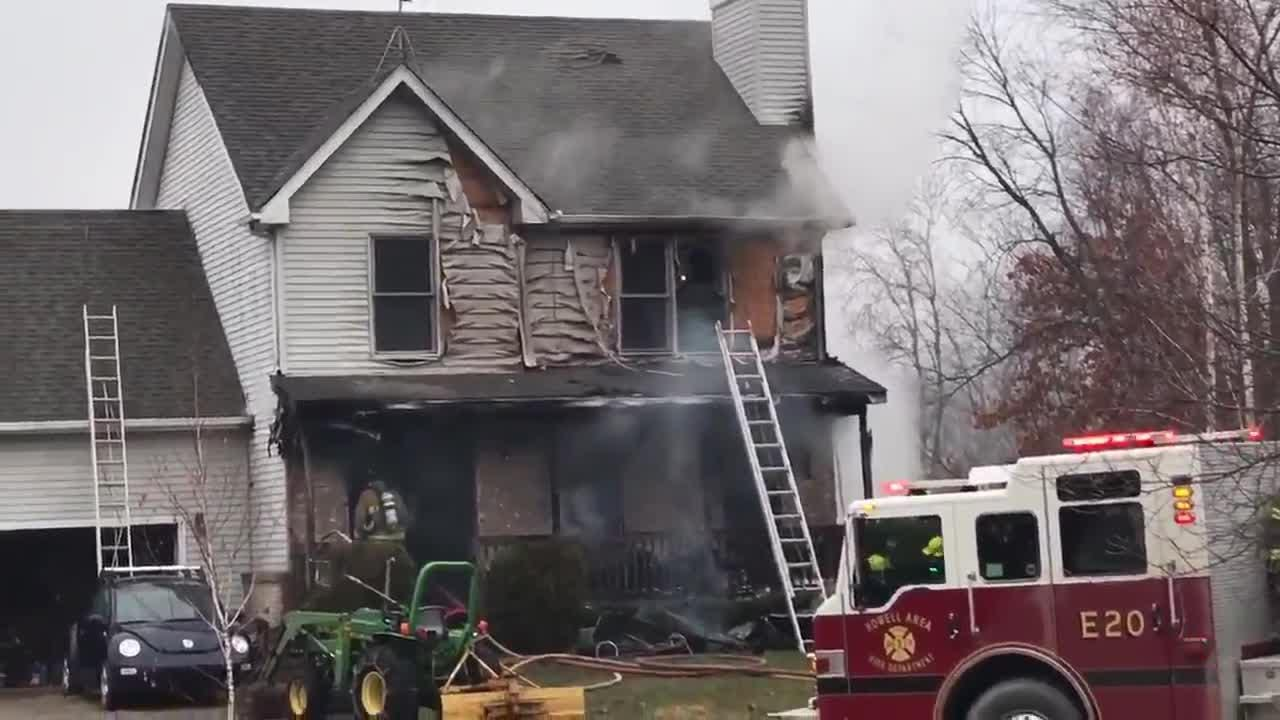 Howell Area Fire and Livingston County EMS were on scene of a house fire in Marion Township on Wednesday.