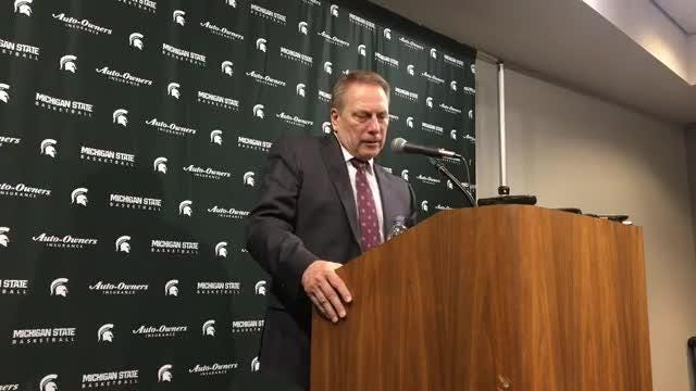 Michigan State coach Tom Izzo after the Spartans' 81-55 win over Northwestern on Wednesday.