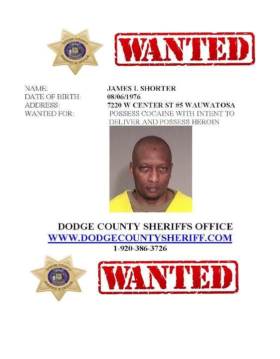 A list of the 10 most wanted people in Dodge County for January, 2019.