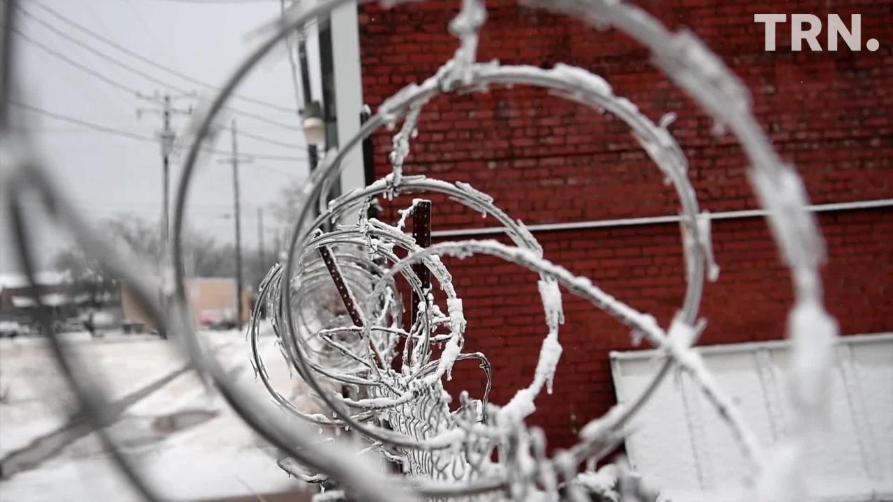 The Wichita Falls area received a wintery mix of sleet, snow, and ice Thursday.
