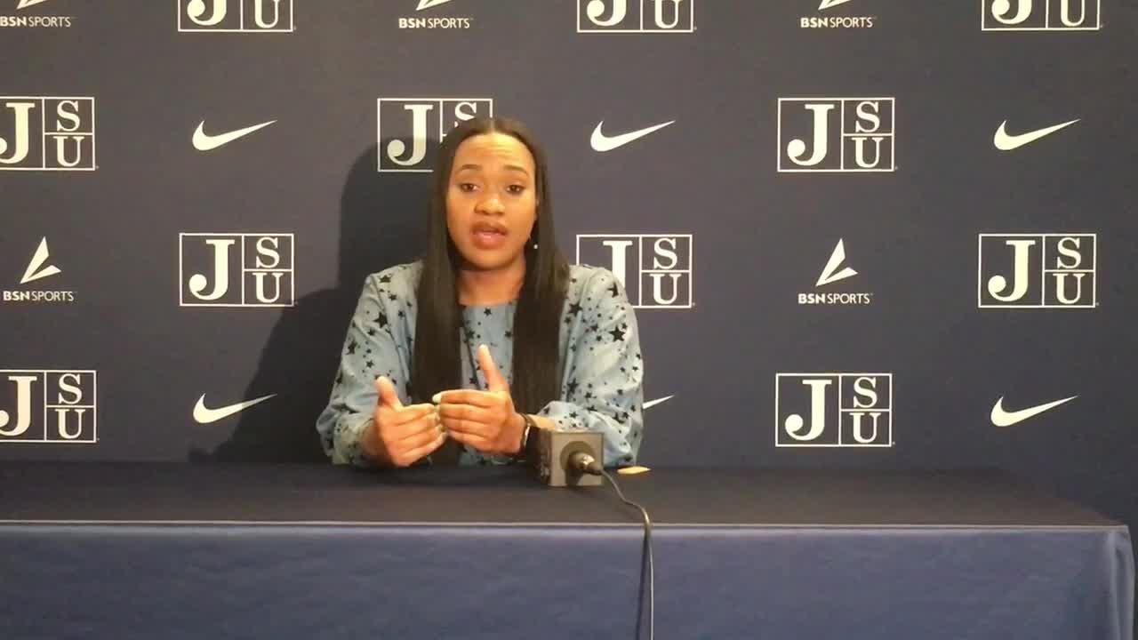 JSU Women's basketball head coach Tomekia Reed discusses the season and beginning SWAC play.