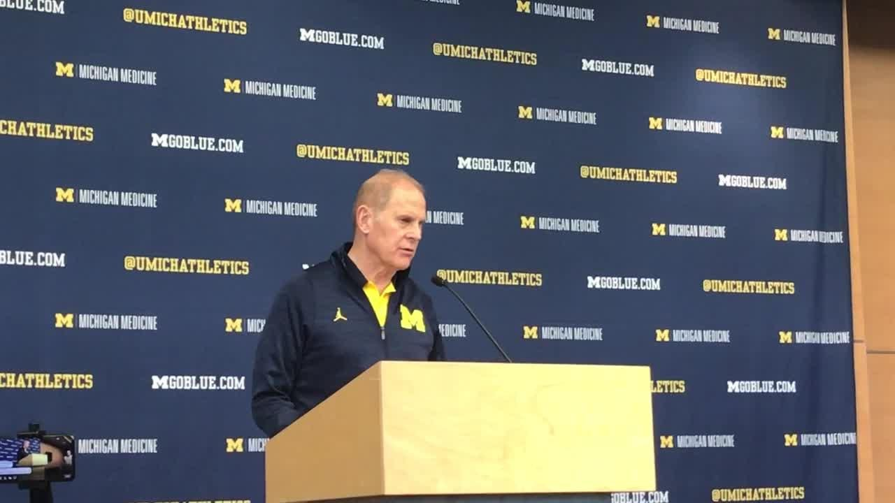 John Beilein previews unbeaten Michigan's game against Indiana on Sunday in Ann Arbor. Recorded Jan. 4, 2019.