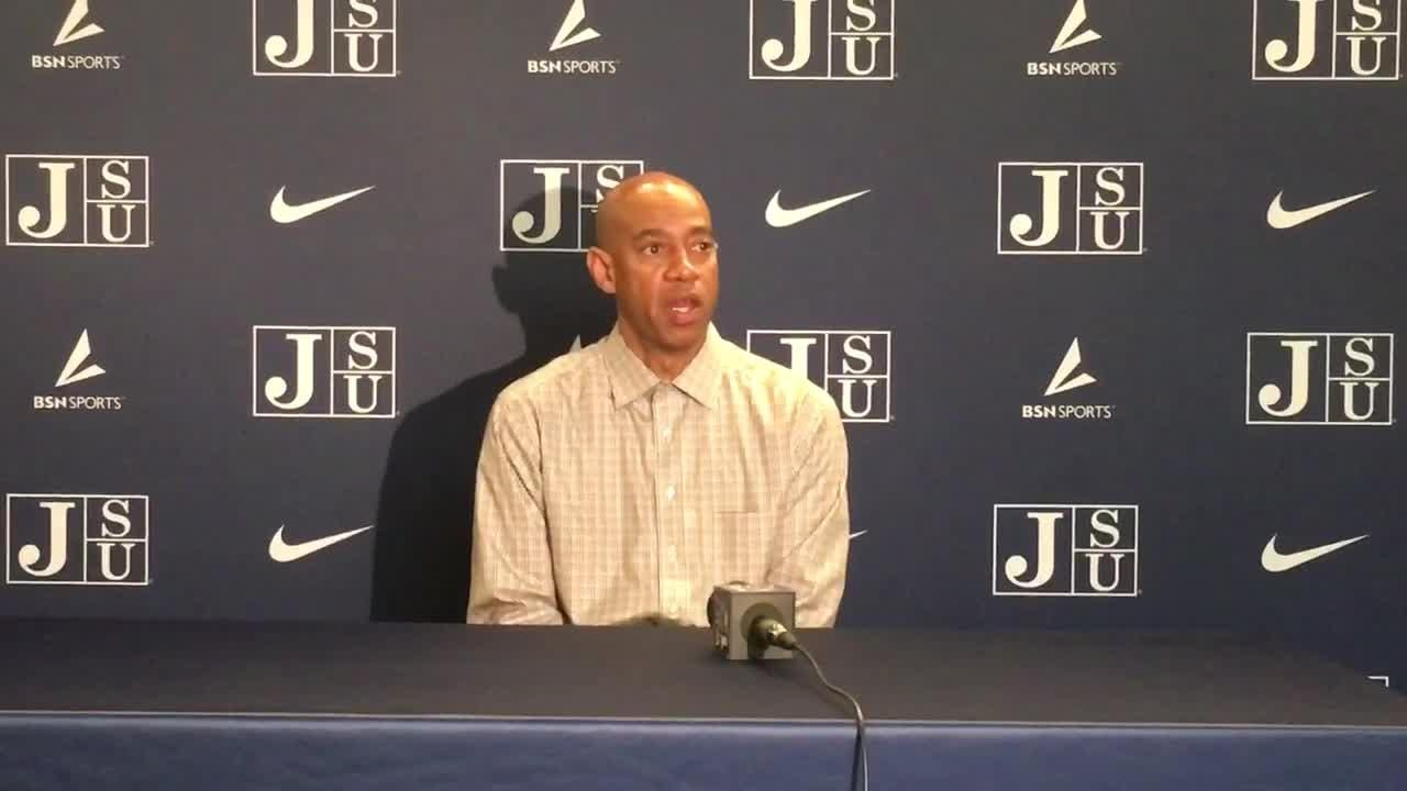 JSU men's hoops head coach Wayne Brent discusses first 13 games and the start of SWAC play.