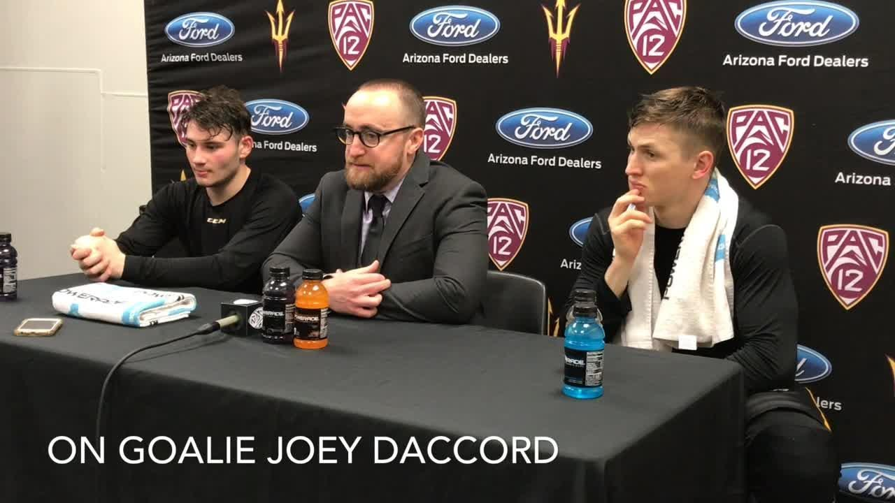 ASU hockey coach Greg Powers on win over Boston College