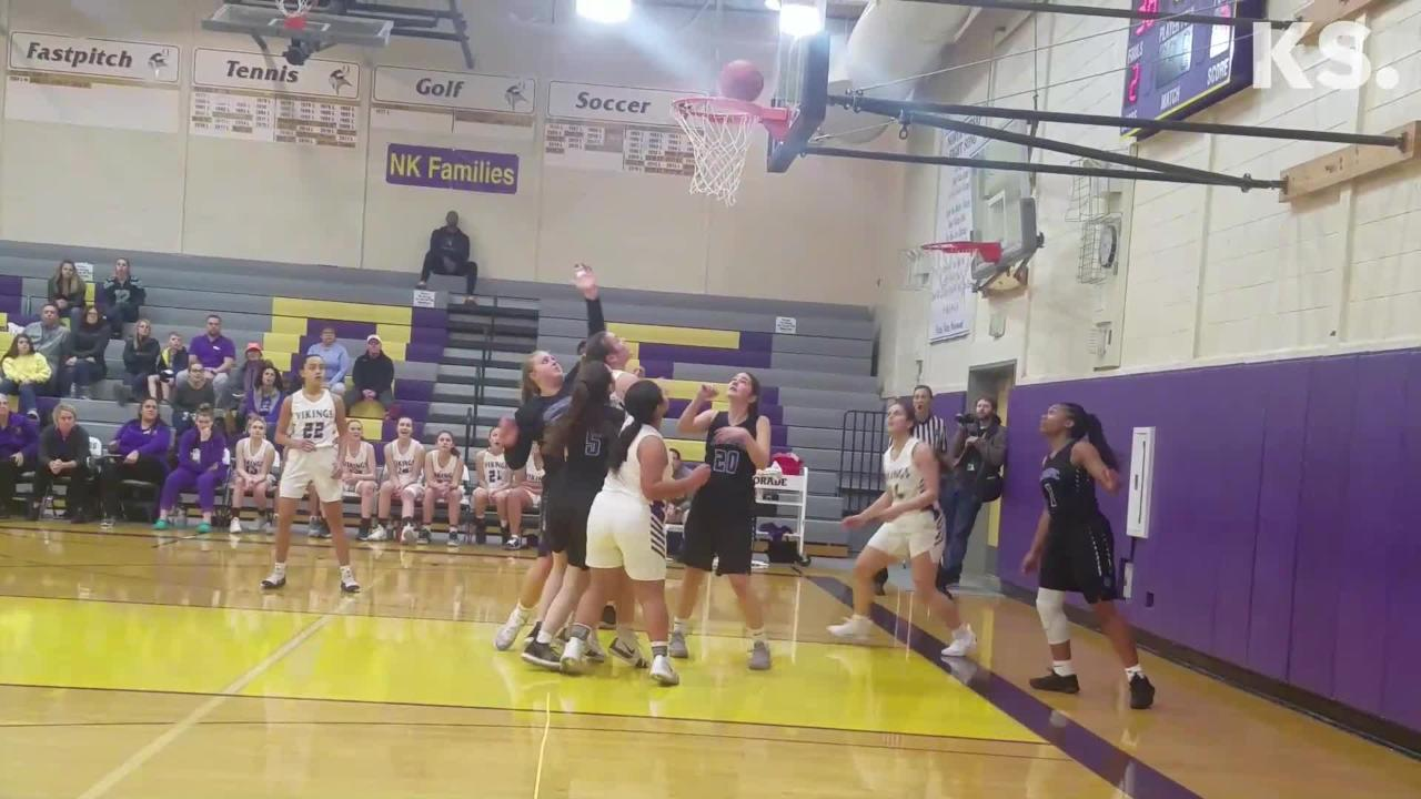 North Kitsap's girls basketball team knocked off Olympic 55-39 on January 4, 2019.