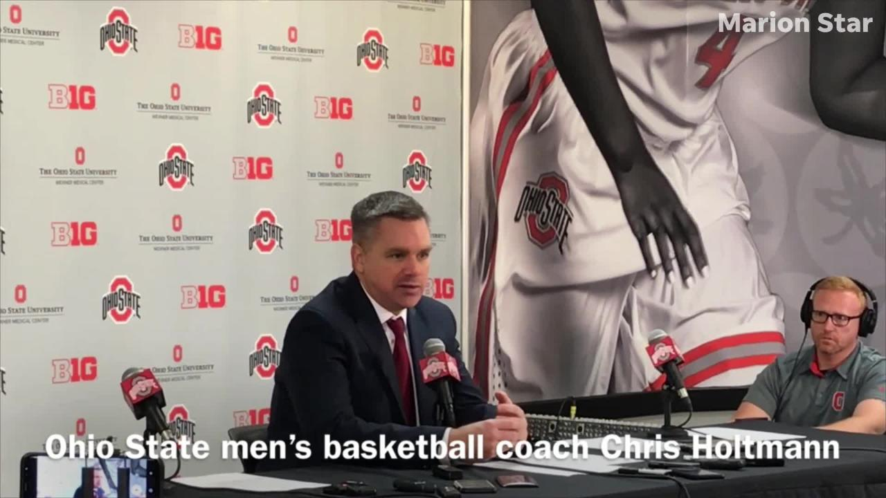 Ohio State men's basketball coach Chris Holtmann gives his assessment of the Buckeyes after an 86-77 loss to Michigan State Saturday afternoon.