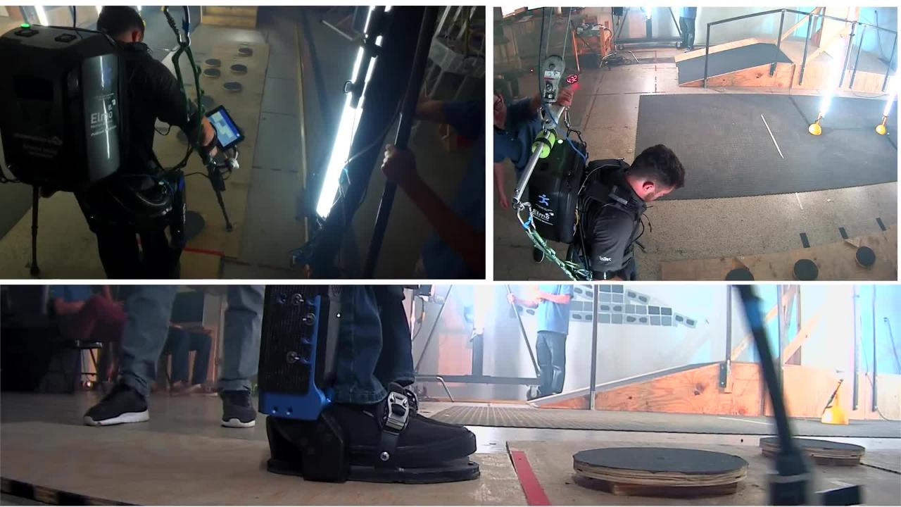 This is a practice run of the full Cybathlon Powered Exoskeleton Course. IHMC competed in the Powered Exoskeleton Race on Oct. 8, 2016 in Zurich, Switzerland.