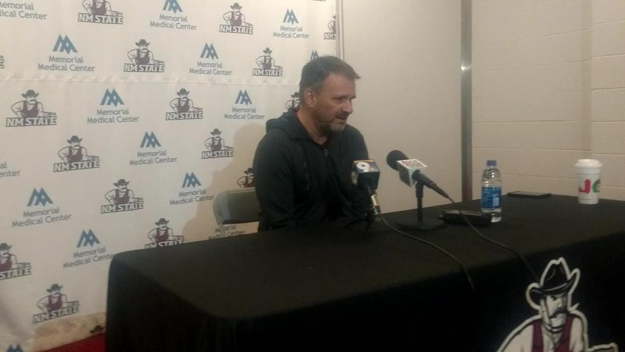 New Mexico State basketball coach Chris Jans and the Aggies look to rebound from a loss to Cal Baptist when the Aggies host Grand Canyon on Thursday.