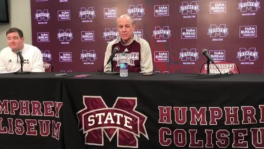 Mississippi State head coach previews his team's game against South Carolina.