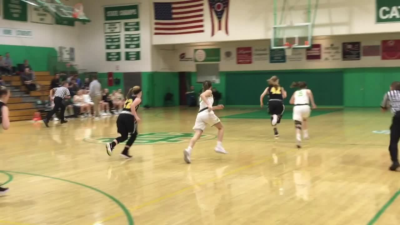 Shannon Keck totaled 15 points, 13 rebounds and five blocks in Newark Catholic's 69-59 victory against Watkins Memorial.