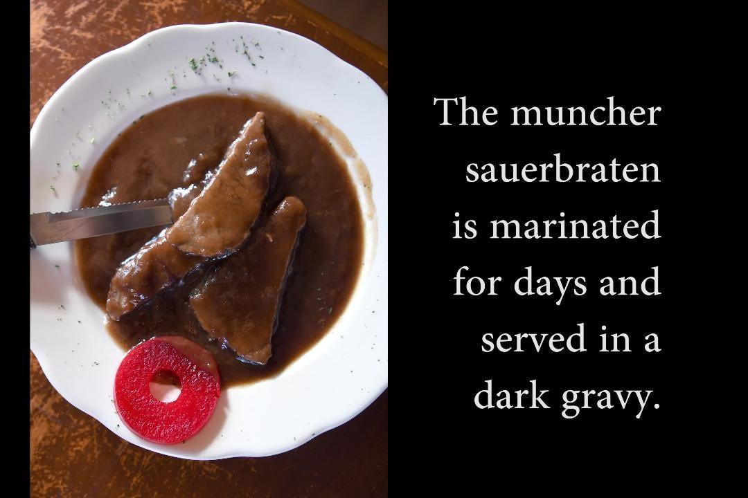 Dine inside a log cabin at Bavarian Restaurant & Biergarten