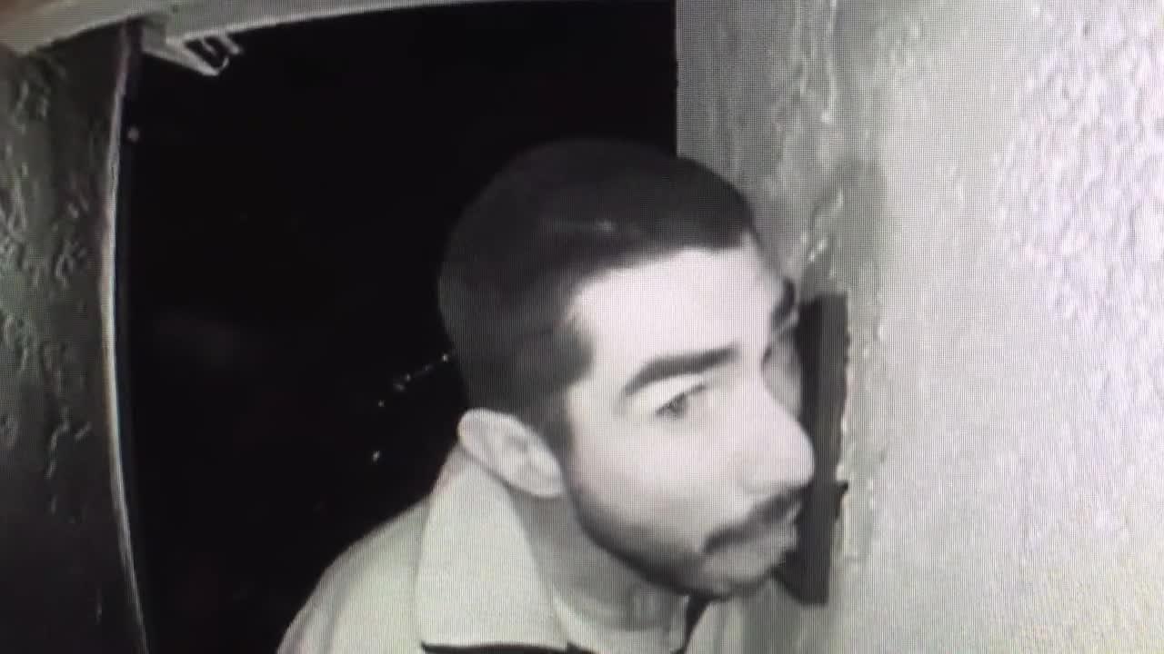 Roberto Daniel Arroyo was caught on camera licking a intercom buzzer in Salinas.