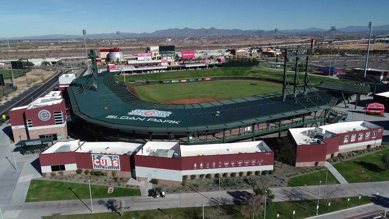 Take a peek inside Sloan Park in Mesa. The facility is the Cactus League home of the Chicago Cubs.