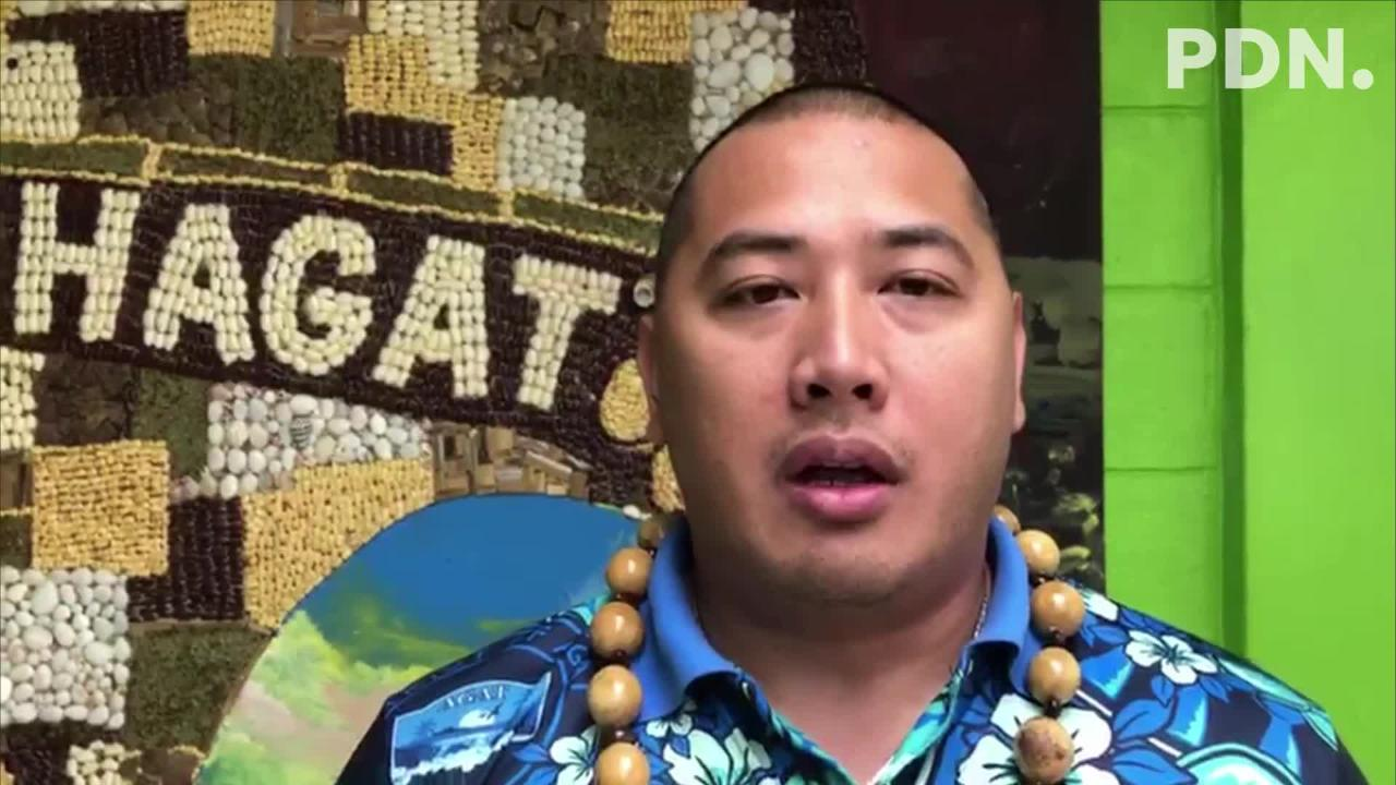 Agat Mayor Kevin Susuico talks about areas of cooperation between Guam and CNMI villages, shortly after he's elected the new president of the Association of Mariana Island's' Mayors and Vice Mayors Assembly Wednesday morning in Agat.