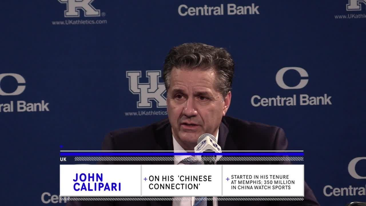 'If we could get a Chinese player want to come here and could play here, it'd make me happy' says John Calipari when  asked after Texas A&M game.