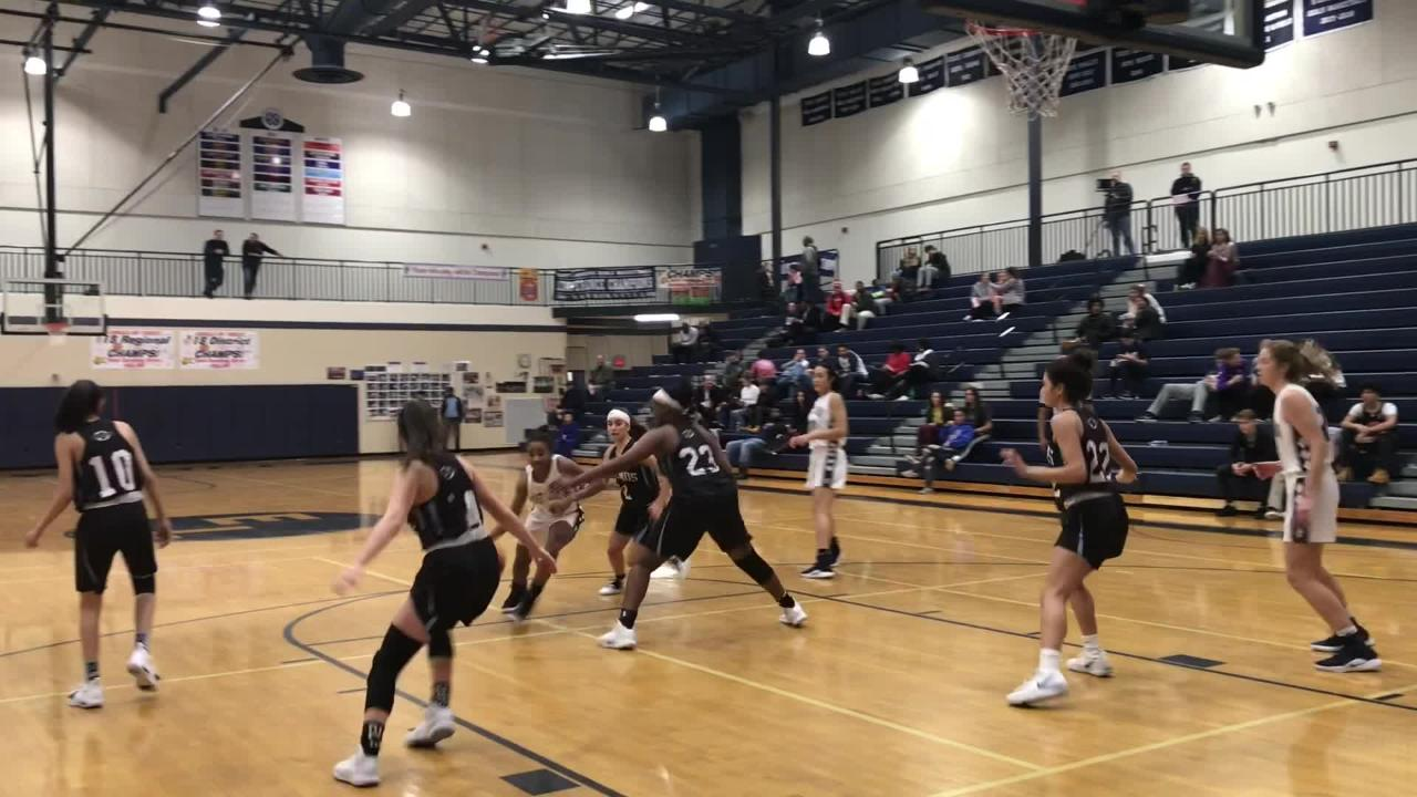 See highlights from East Lansing's league win over Okemos on Jan. 8, 2019.