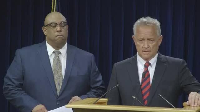 Press conference with Prosecutor Joe Deters and Cincinnati Police Chief Eliot Isaac on death of 2-year-old killed in stroller.