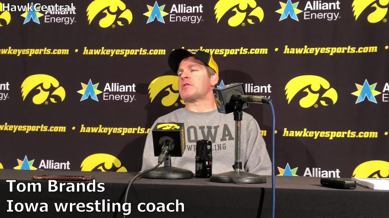 Iowa coach Tom Brands recaps the break after the Midlands, and discusses sophomore 125-pounder Spencer Lee and senior heavyweight Sam Stoll.