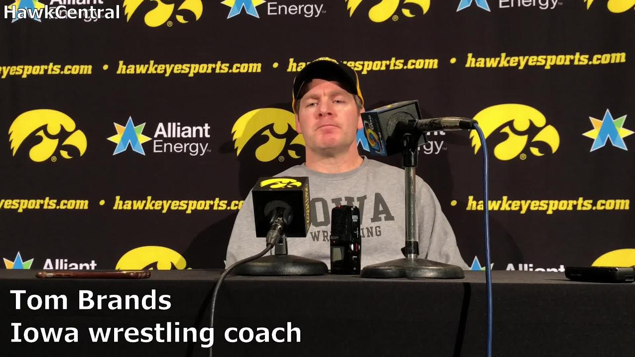 Iowa coach Tom Brands on Max Murin: 'He leads with his face'