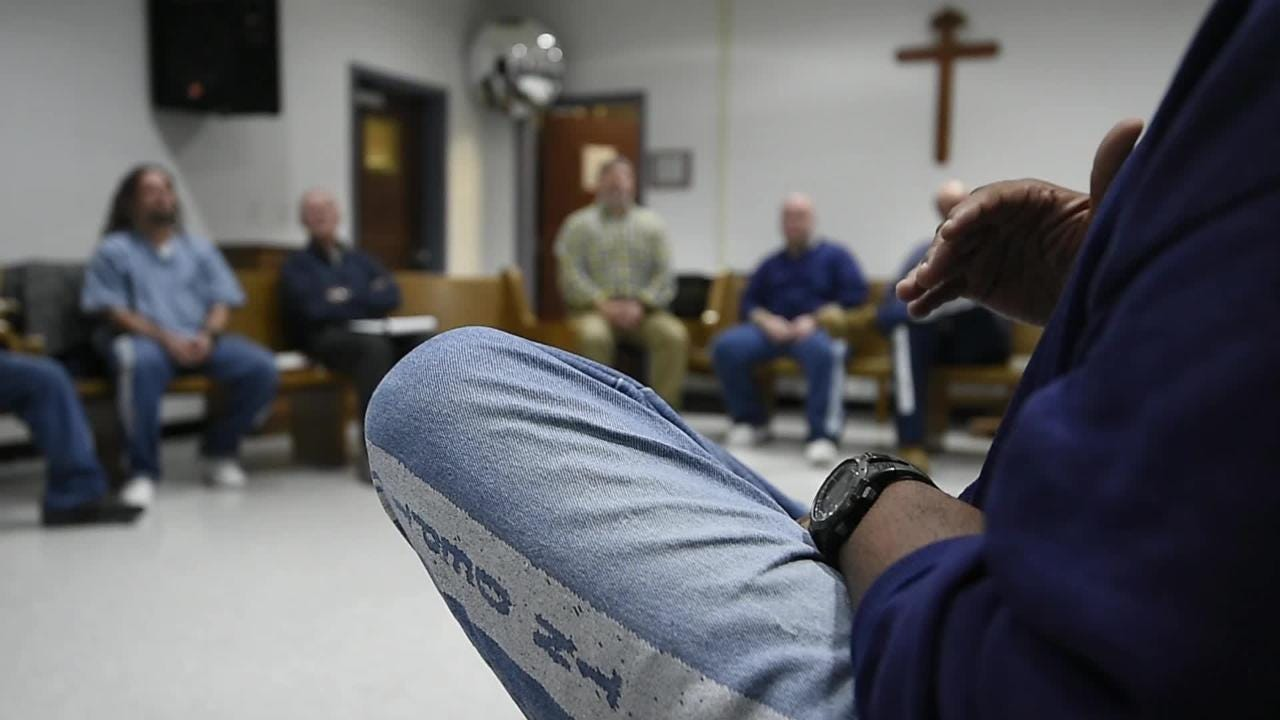 Former Channel 4 personality volunteers at a maximum security lockup with Christian group Men of Valor