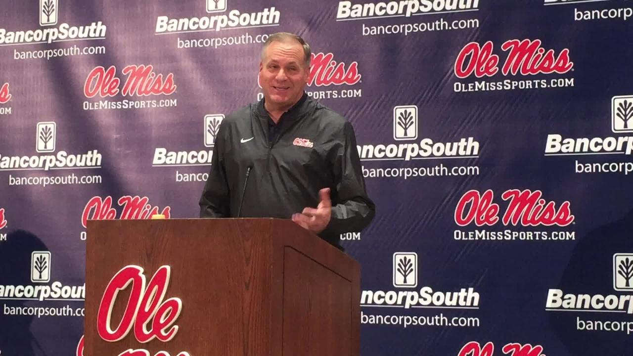 New Ole Miss offensive coordinator Rich Rodriguez explains how Matt Luke convinced him to come back to coaching as a coordinator in Oxford.