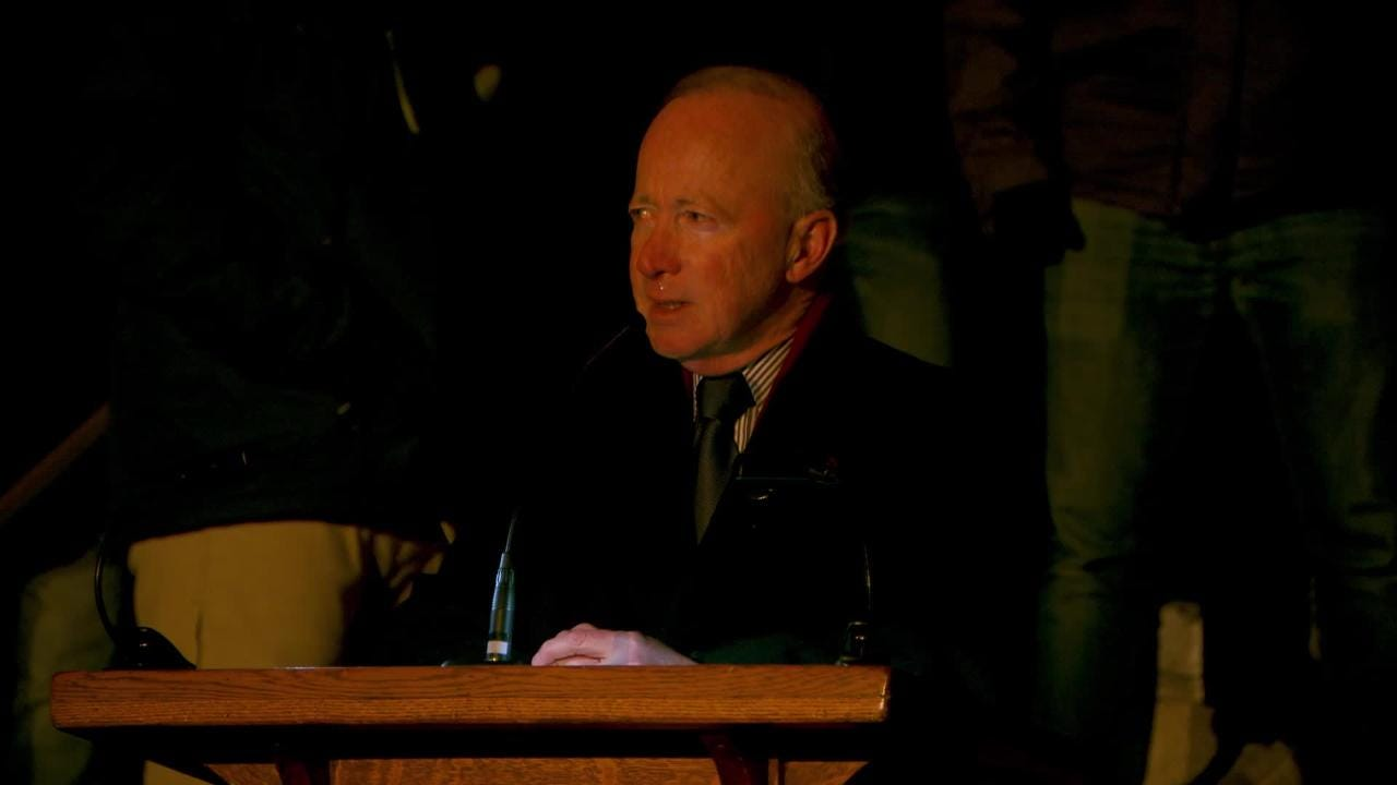 'Tyler Trent was grit personified': Purdue President Mitch Daniels' emotional #tylerstrong farewell