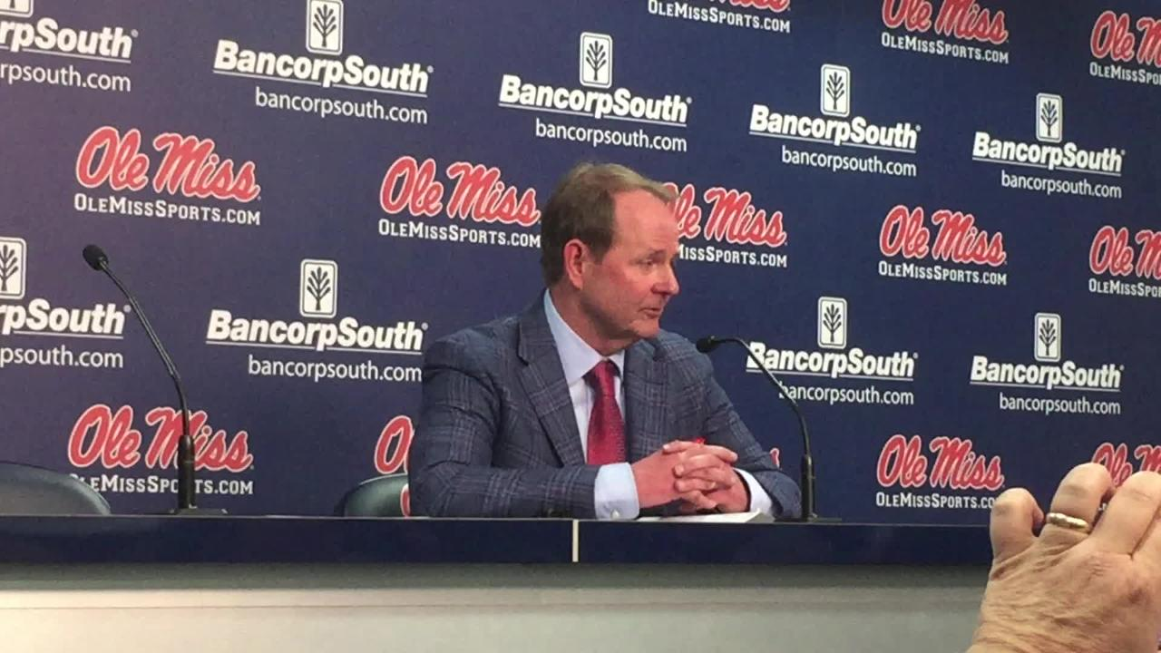 Ole Miss basketball coach Kermit Davis talked about how his team pulled off the upset versus No. 11 Auburn at The Pavilion on Wednesday.