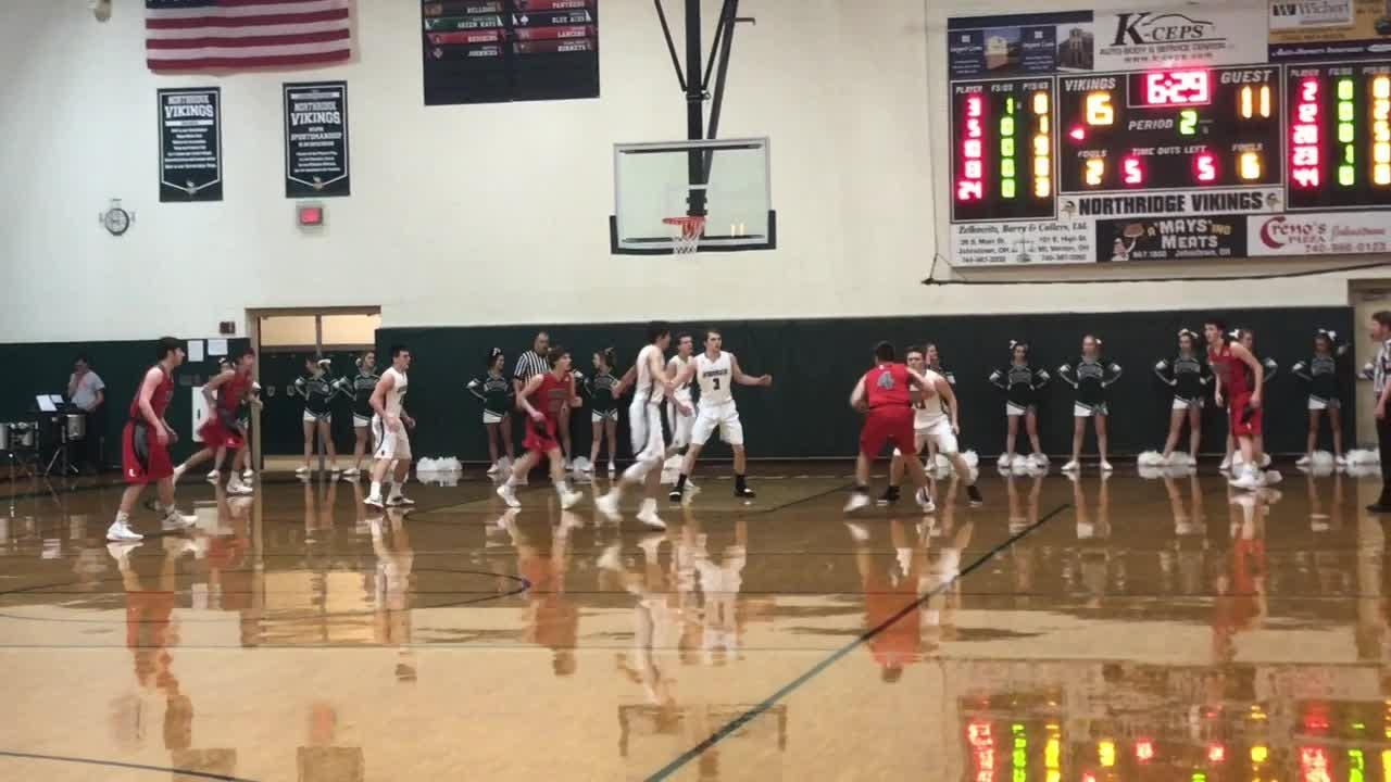 Travis Neumeyer and Carter Comisford combined for five 3-pointers in Northridge's 40-32 victory against Utica.