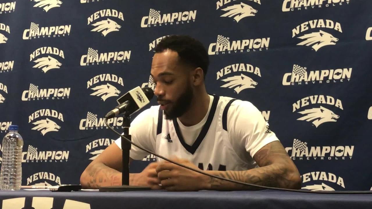 Nevada's Corey Henson talks about getting into the starting lineup and finishing with his best game this season for the Pack.