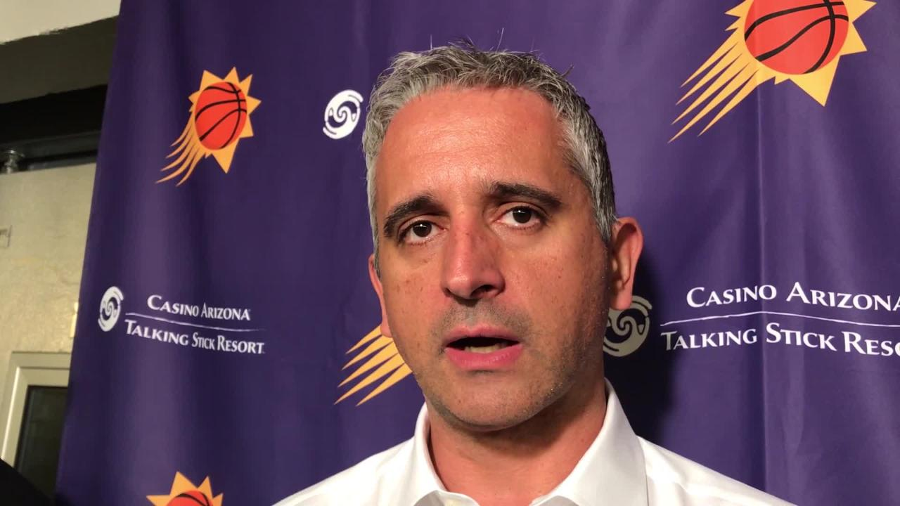 Igor Kokoskov talks about the free throw and foul differential in Wednesday's 104-94 loss at Dallas. Phoenix had 17 more fouls than the Mavericks.