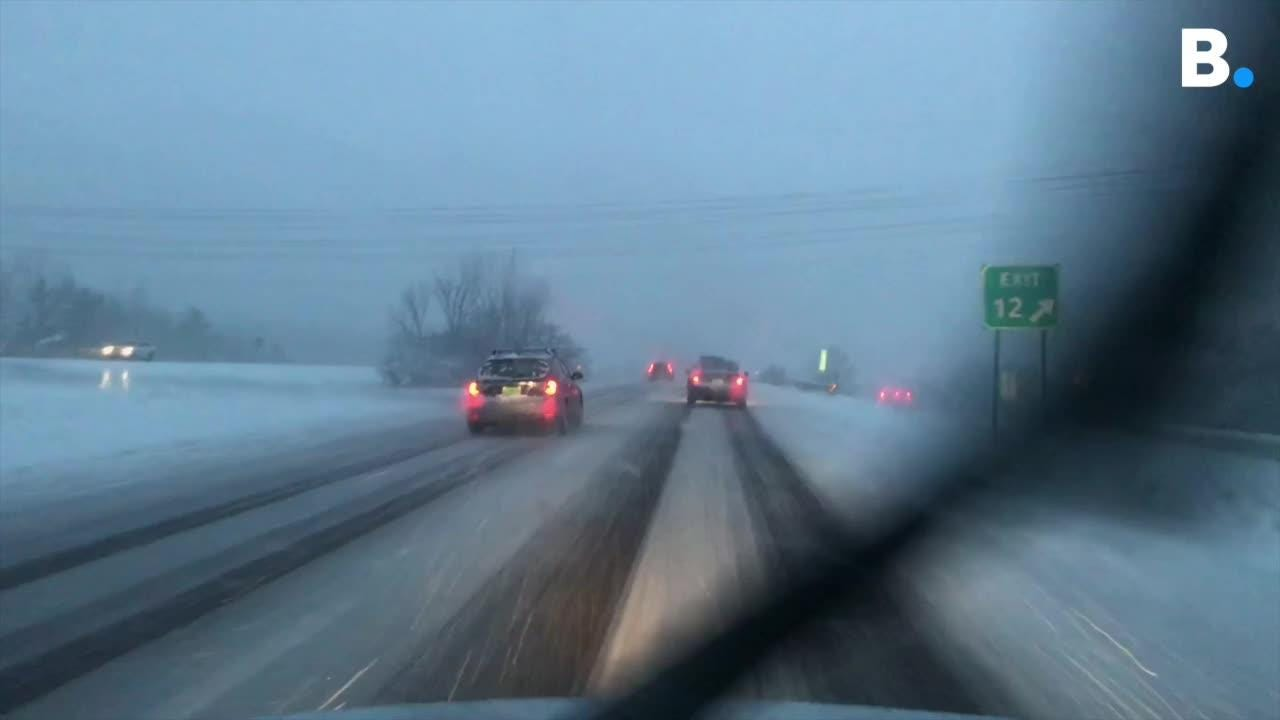 We report of roads conditions on Interstate 89 northbound in WIlliston on Thursday morning, Jan. 10, 2019.