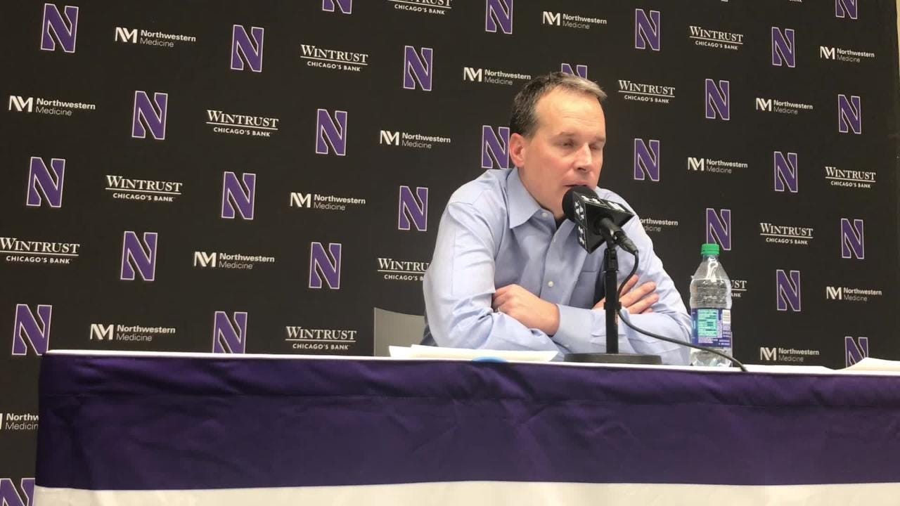Northwestern coach Chris Collins on trying to defend Hawkeyes in the paint. Also, did he think Tyler Cook's absence was a factor? Listen in: