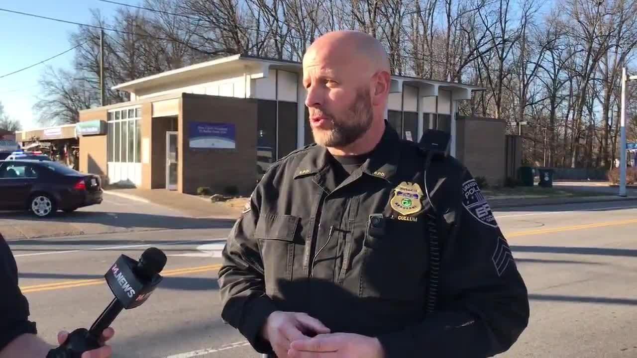 Evansville Police Department spokesman Sgt. Jason Cullum talks about the Jan. 10 bank robbery on Washington Avenue.