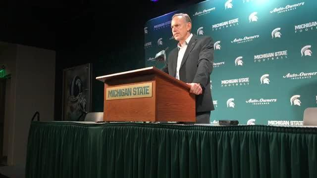 Michigan State football coach Mark Dantonio's press conference to recap the 2018 season and to address staff changes on Thursday,  Jan. 10, 2018.