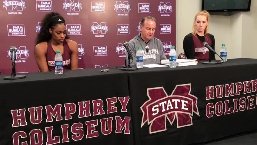 Mississippi State head coach Vic Schaefer discusses his team's win over Georgia.