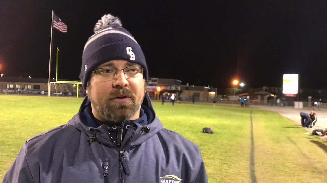 Gulf Breeze girls soccer head coach Ryan Williams recaps a 1-0 loss to Niceville on Thursday night at Gulf Breeze High.