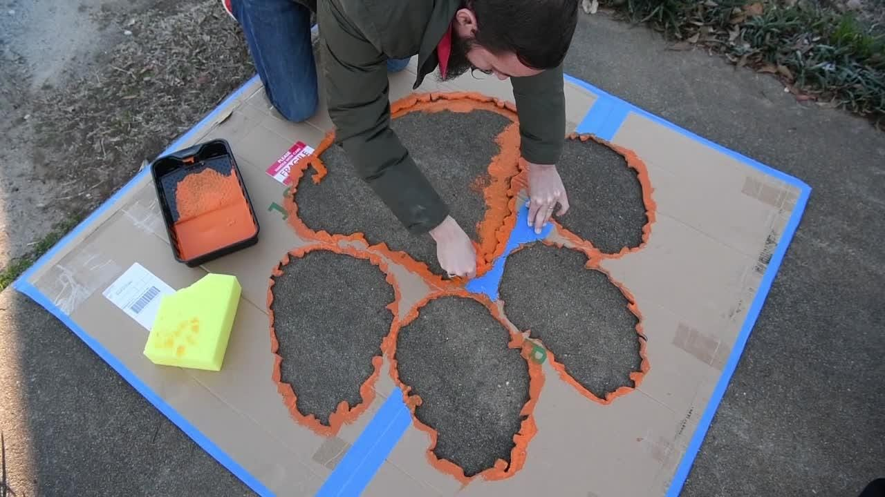 Painting the town with tiger paws a love offering from mayor