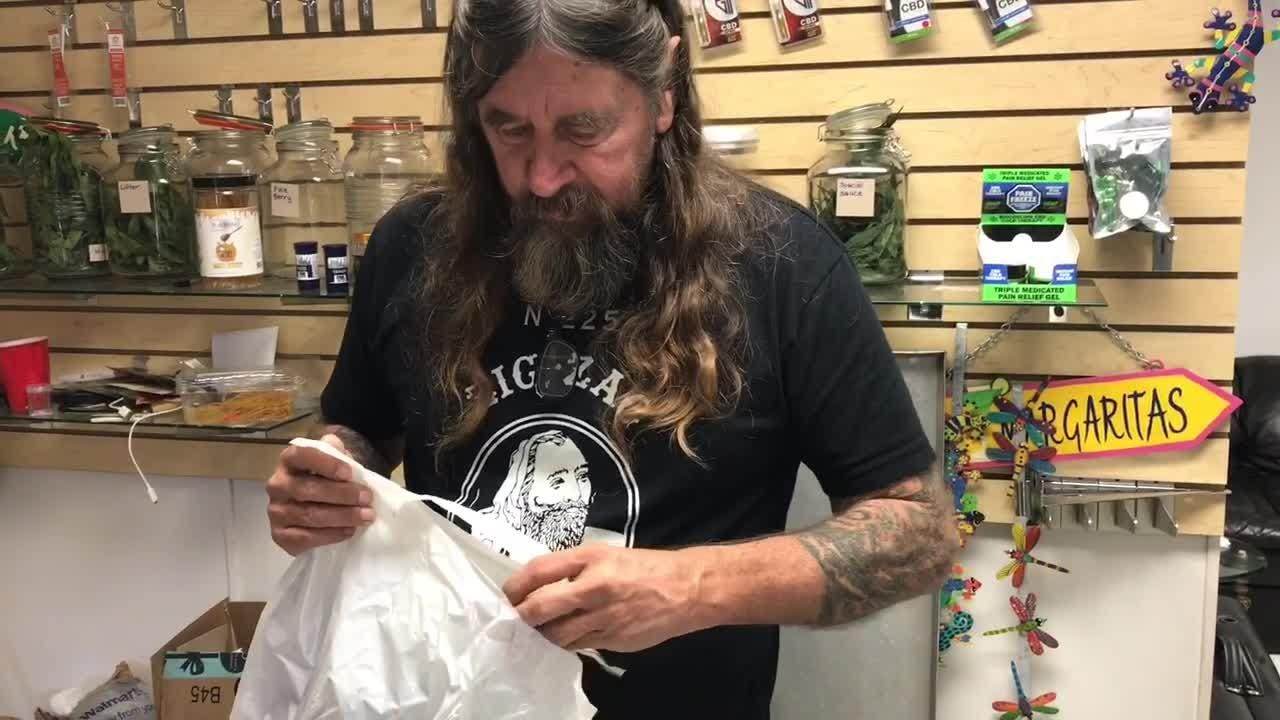 A Melbourne hemp dealer can't understand why police are giving him grief over his products