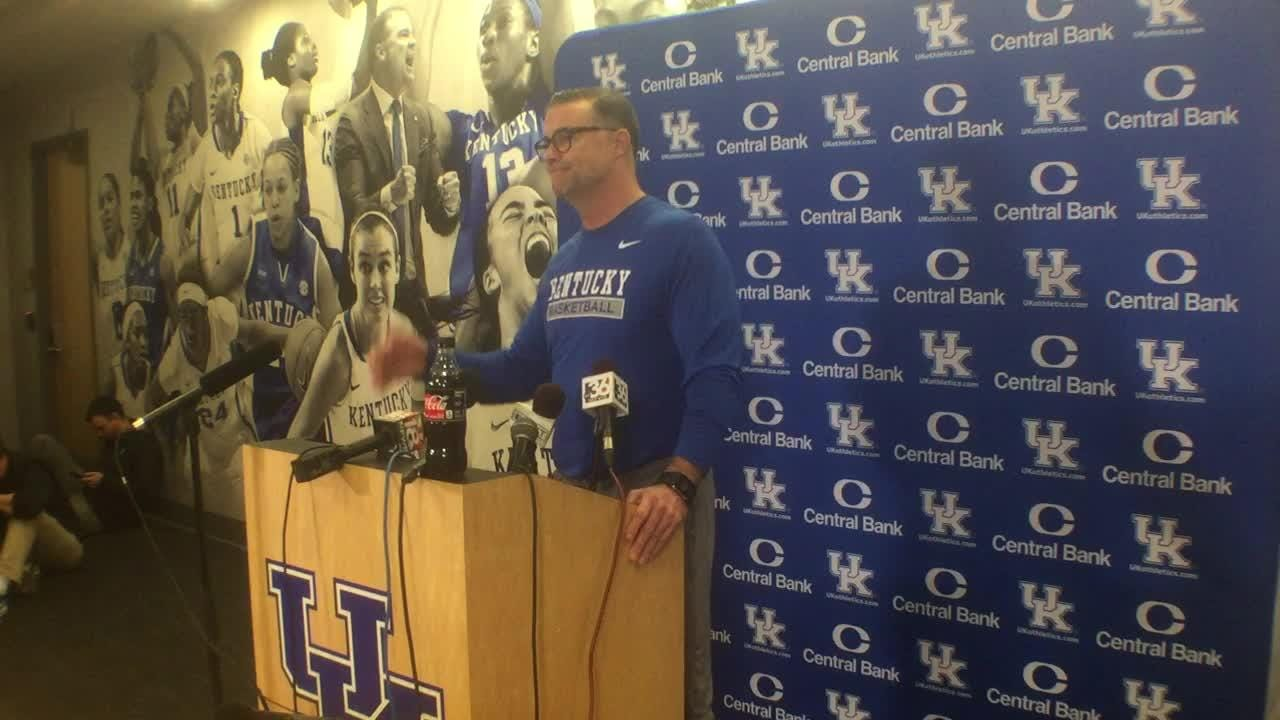 UK women's basketball coach Matthew Mitchell wants team to move past big win over Tennessee.