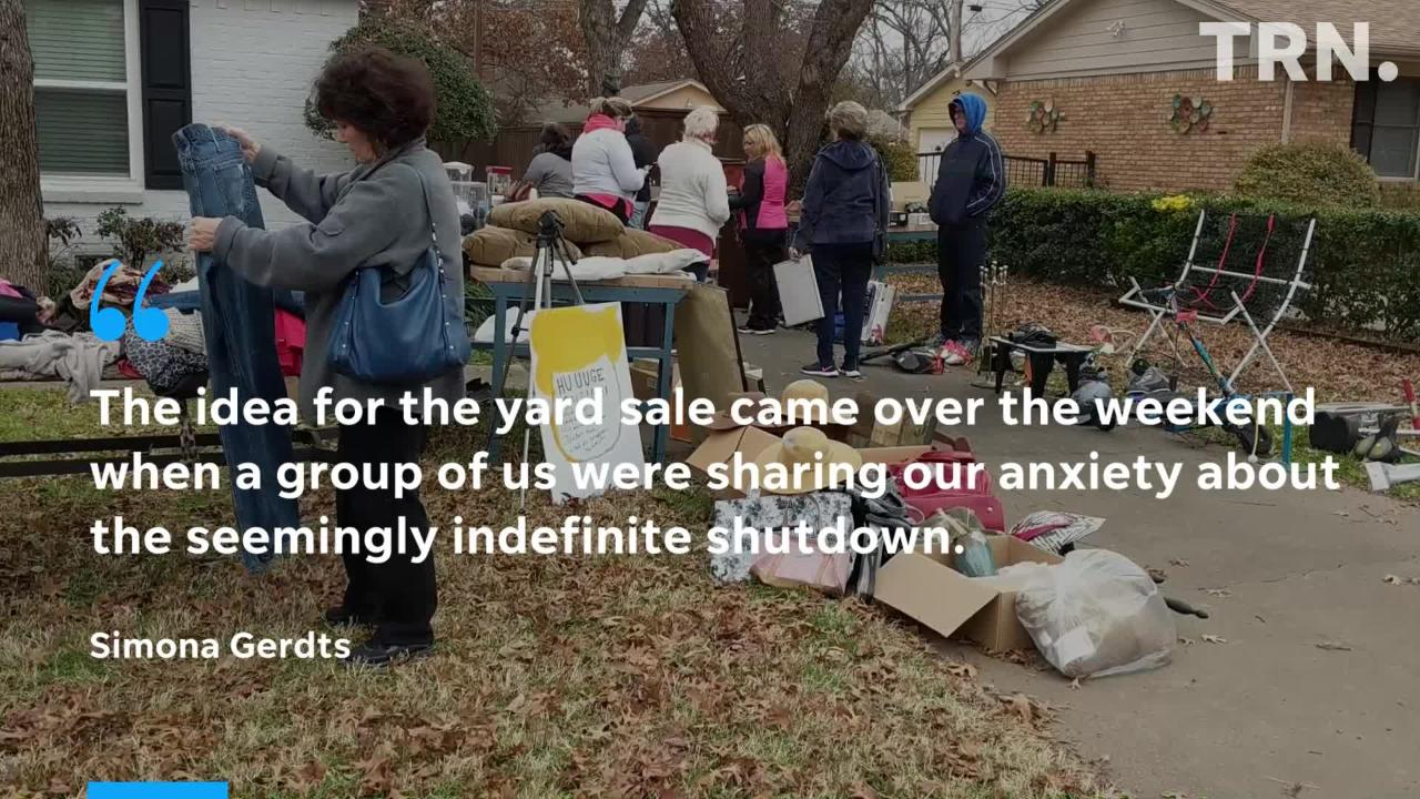 Wichita Falls federal workers fought shutdown woes over missing paychecks with a yard sale Saturday, Jan. 12.