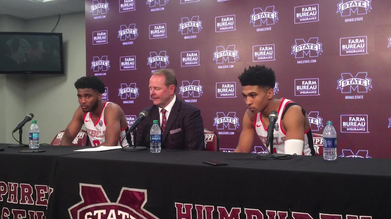 Ole Miss coach Kermit Davis and players Breein Tyree and Blake Hinson recapped the Rebels' win over No. 14 Mississippi State.