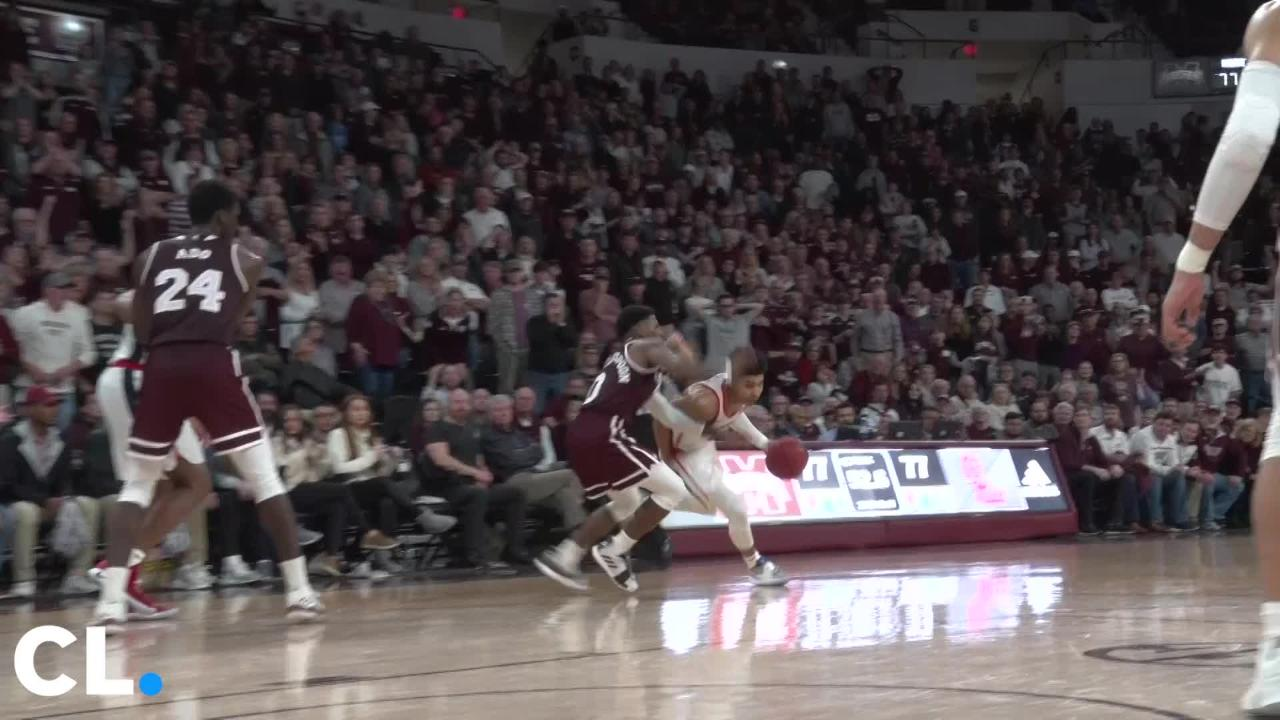 Ole Miss beat Mississippi State in basketball on the road 81-77